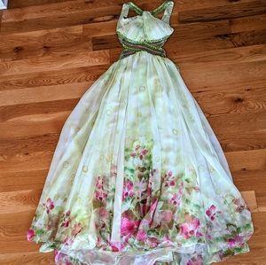 Elegant Floral Prom Dress